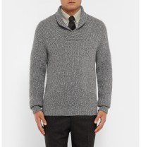 Kingsman Shawl-collar Wool And Cashmere-blend Sweater in ...