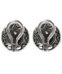 Stephen dweck Silver Moonstone Flower Stud Earrings in