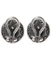 Stephen dweck Silver Moonstone Flower Stud Earrings in ...