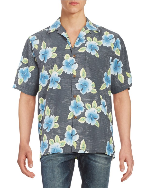 Lyst Tommy Bahama Floral Silk Sportshirt in Black for Men