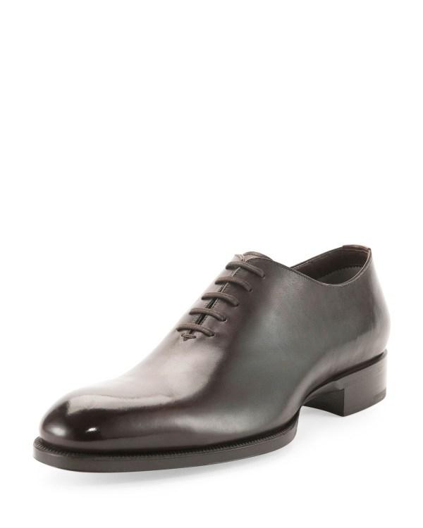 Lyst - Tom Ford Edward -piece Lace- Tt Leather Shoe In Black Men