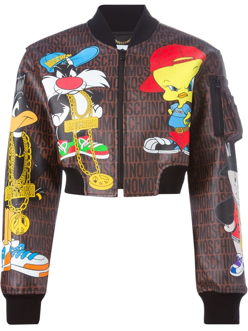 Moschino Looney Tunes Bomber Jacket in Brown  Lyst