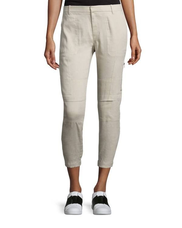 Linen Cargo Pants for Women