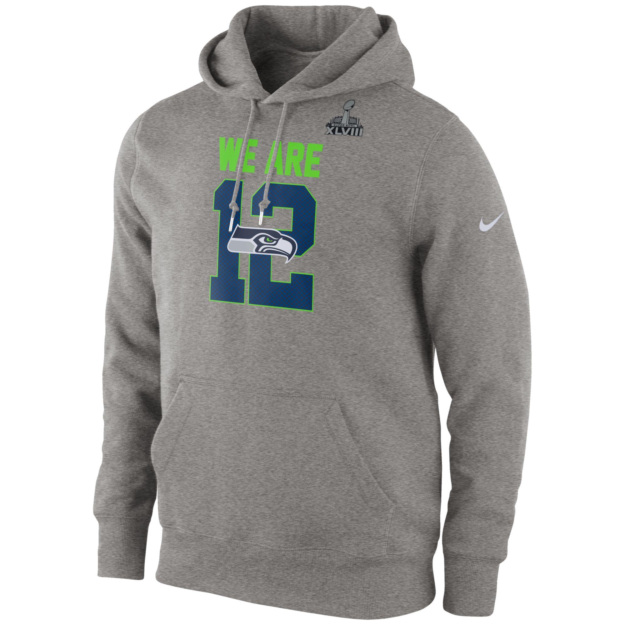 Nike Mens Seattle Seahawks Super Bowl Xlviii Local Hoodie in Gray for Men | Lyst