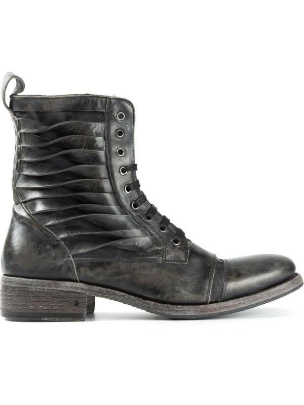 John Varvatos Lace- Boots In Gray Men Grey Lyst