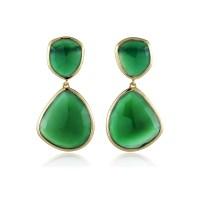 Monica Vinader Siren Green Onyx Earrings - Jewelry ...