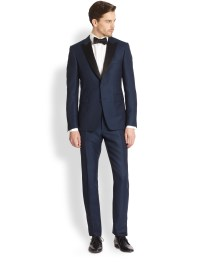 Burberry Sutherland Shawl-collar Tuxedo in Blue for Men ...