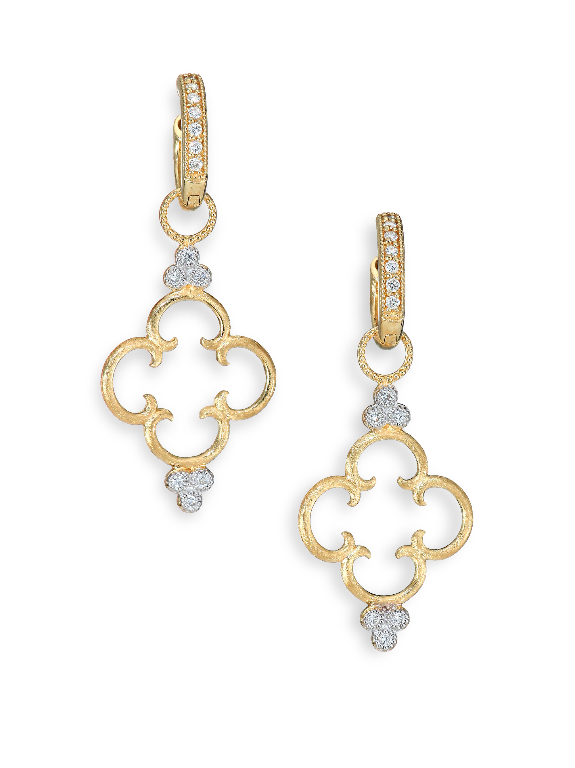 Jude frances Classic Diamond & 18k Yellow Gold Clover