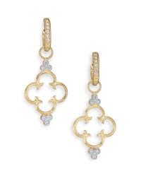 Jude frances Classic Diamond & 18k Yellow Gold Clover ...