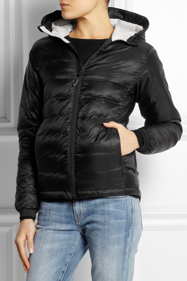 Lyst - Canada Goose Camp Hoody Quilted Coat In Black
