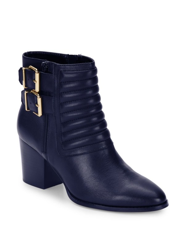 Saks Avenue Whitley Leather Quilted Ankle Boots In