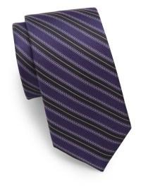 Saks Fifth Avenue Striped Silk Tie in Purple for Men   Lyst