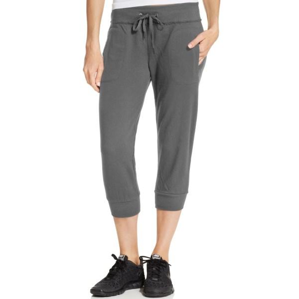 Calvin Klein Performance Banded Capri Pants In Gray
