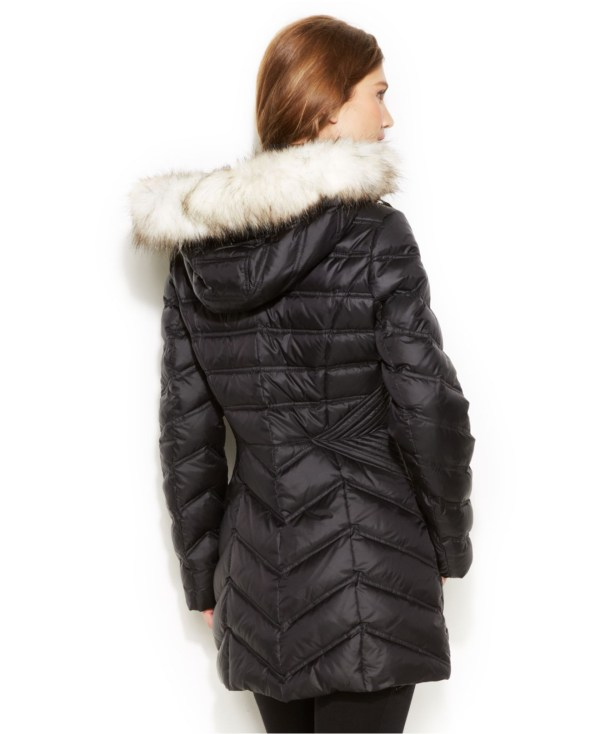 Laundry Shelli Segal Faux-fur-hooded Quilted