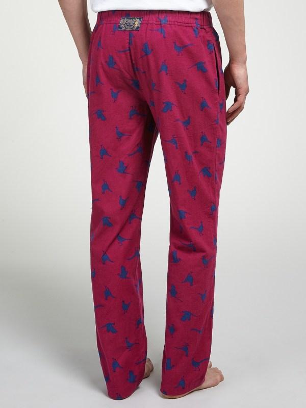 Joules Selwyn Pheasant Print Lounge Pants In Blue Men