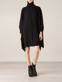 Black Oversized Sweater Dress - Baggage Clothing