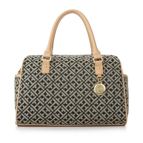 Lyst - Tommy Hilfiger Mothers Day Jacquard Satchel In Black