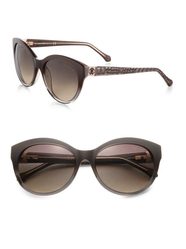 Roberto Cavalli Albaldah Rounded Cat'-eye Sunglasses In
