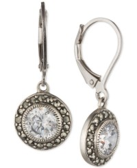 Judith jack Sterling Silver Marcasite And Crystal Drop ...