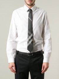 Burberry Nova Check Tie in Gray for Men | Lyst