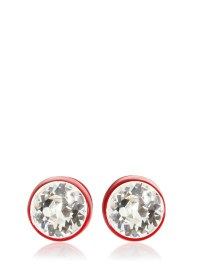 Lyst - Givenchy Brass And Swarovski Earrings in Red for Men