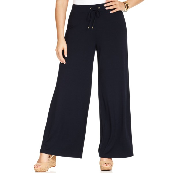 Lyst - Jones York Signature Size Drawstring Wideleg Pants In Blue