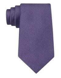 Calvin klein Classic Fit Silk Birdseye Tie in Purple for ...