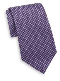 Lyst - Saks fifth avenue Cross Stitch Silk Tie in Blue for Men