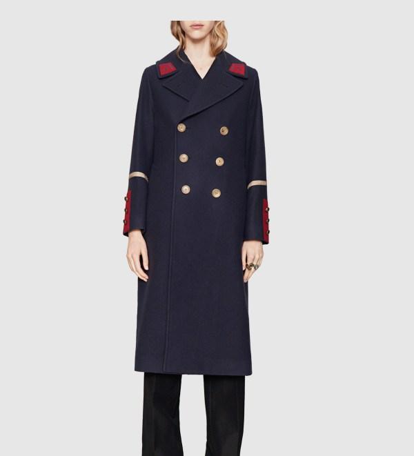 Gucci Wool Cashmere Coat In Blue Men - Lyst
