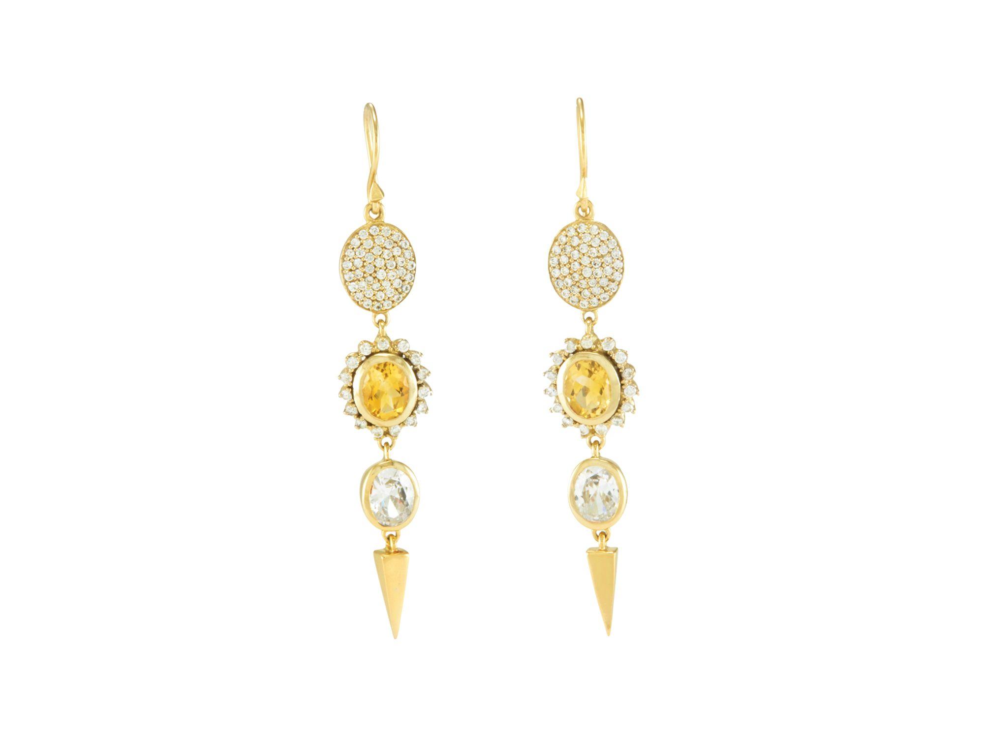 Melinda maria Harper Drop Earrings in Metallic