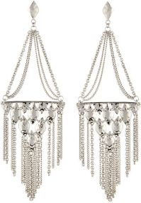 Kendra Scott Mandy Tassel Chandelier Earrings in Silver | Lyst