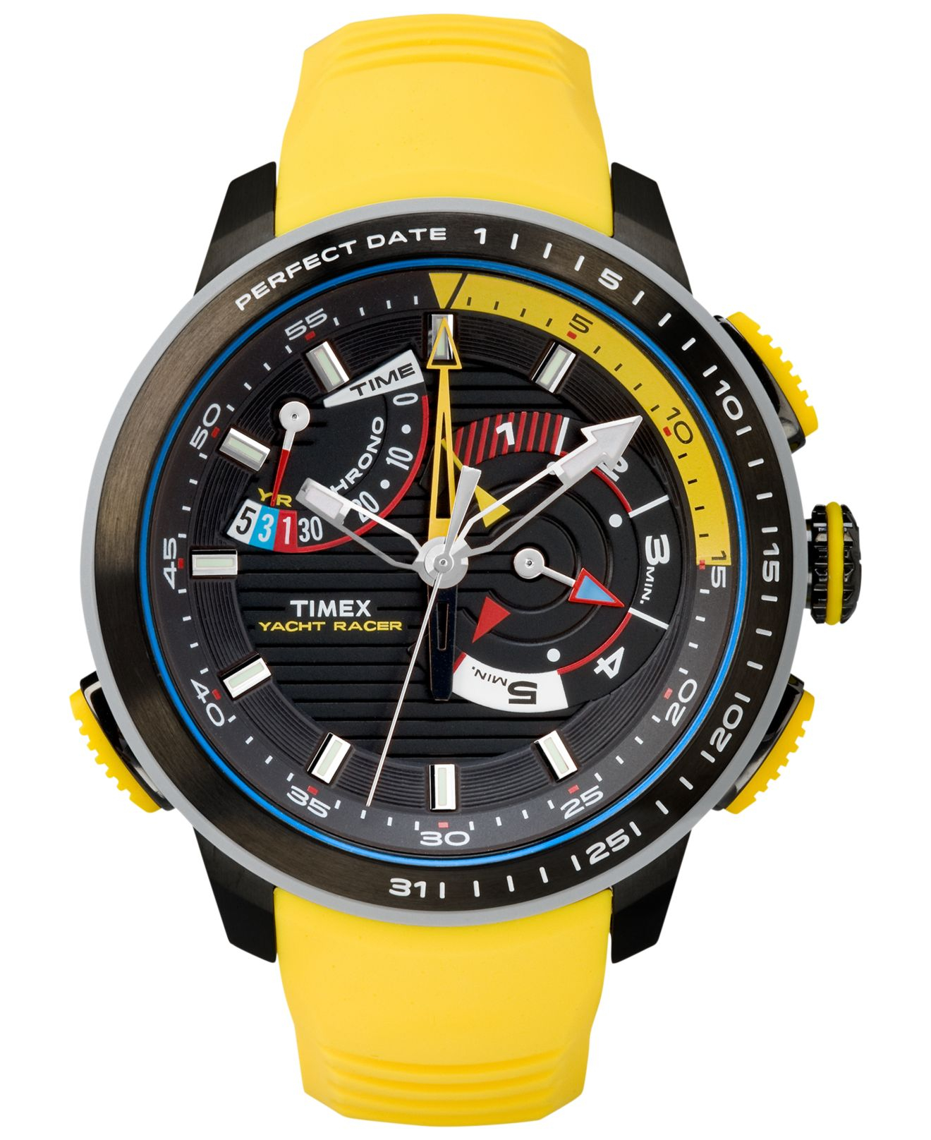 Lyst Timex Mens Chronograph Yacht Racer Yellow Silicone