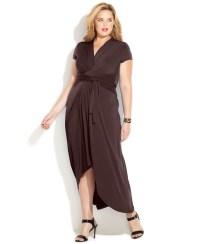 Lyst - Michael Kors Michael Plus Size Fauxwrap Maxi Dress ...
