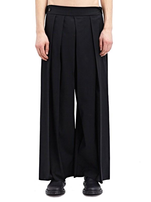 Thamanyah Men' Wide Leg Pants Ss15 In Black