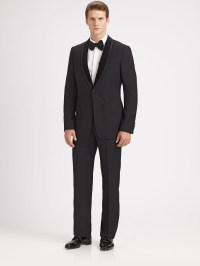 Armani Shawl Collar Tuxedo in Black for Men | Lyst