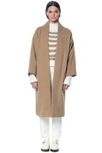 Mara hoffman Wool Wrap Coat in Natural   Lyst
