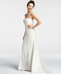 Ann taylor Silk Charmeuse Tiered Strapless Wedding Dress ...