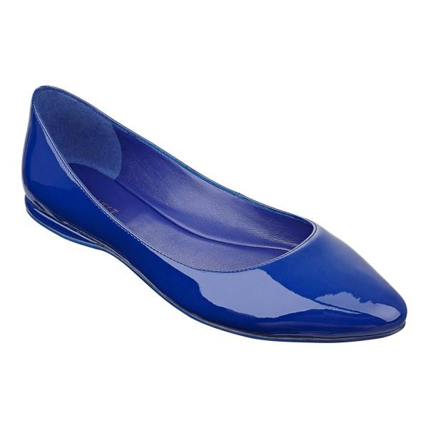 Nine West Speakup Pointed Toe Flat In Blue Lyst