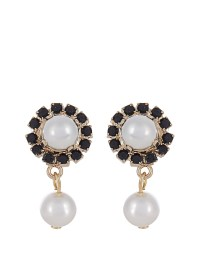 Givenchy Crystal And Pearl Magnetic Earrings in White | Lyst