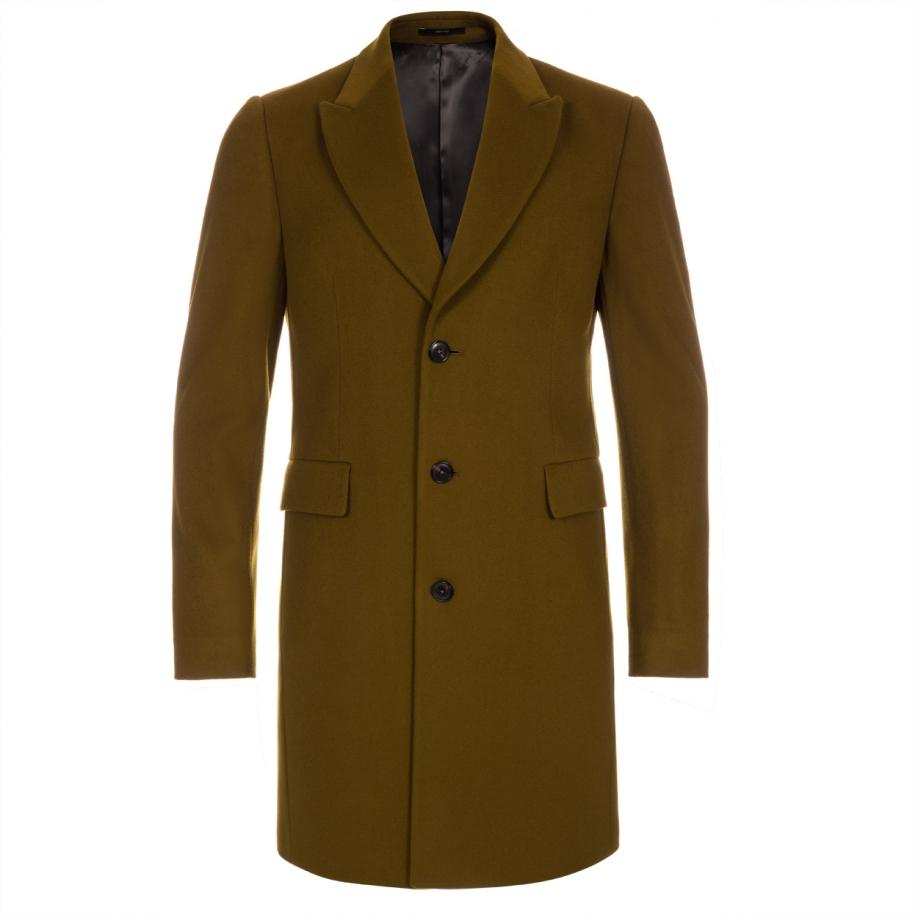 Lyst Paul Smith Mens Khaki Wool Cashmere Epsom Coat In