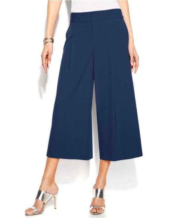 Lyst - International Concepts Petite Wide-leg Gaucho Pants In Blue