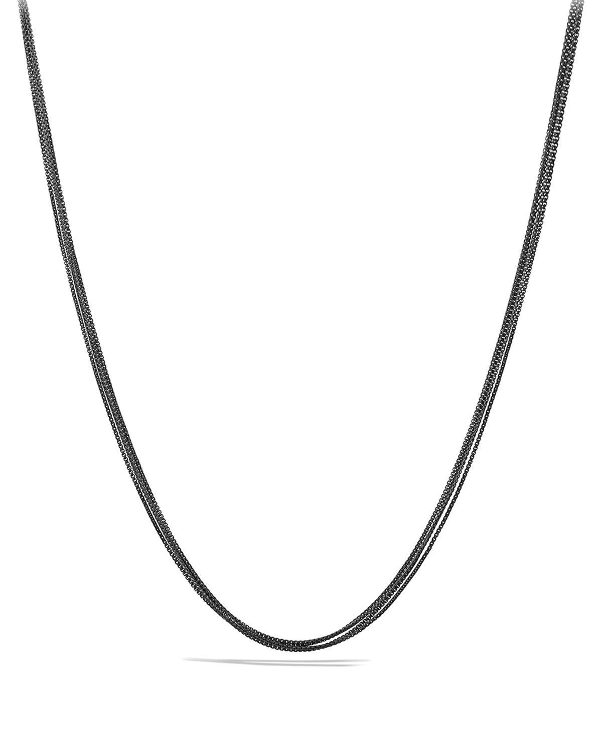 David Yurman Four-row Baby Box Chain Necklace in Silver