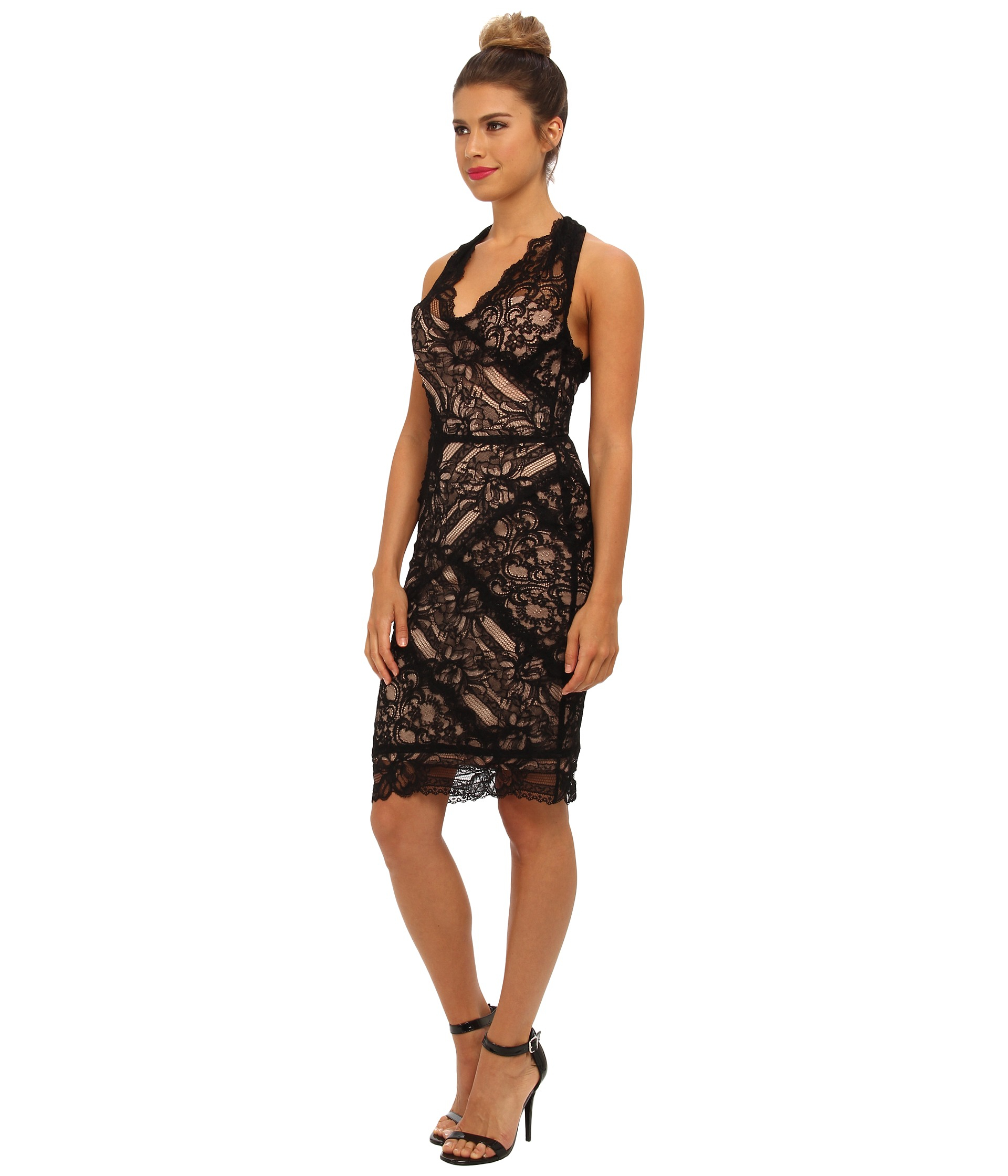Nicole Miller Everly Lace Dress in Black  Lyst
