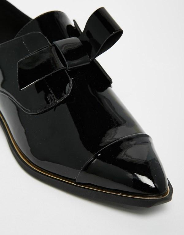 Aldo Gazoldo Black Patent Flat Shoes In Lyst