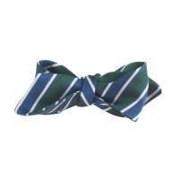 J.crew Italian Silk Bow Tie In Pine Stripe in Blue for Men ...