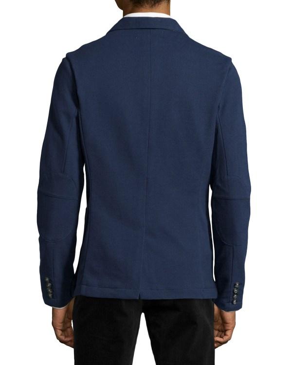 Original Penguin Two-button Front Knit Blazer In Blue