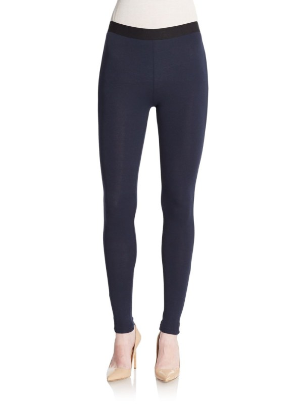 Adrienne Vittadini Luxe Stretch Leggings In Navy Blue - Lyst