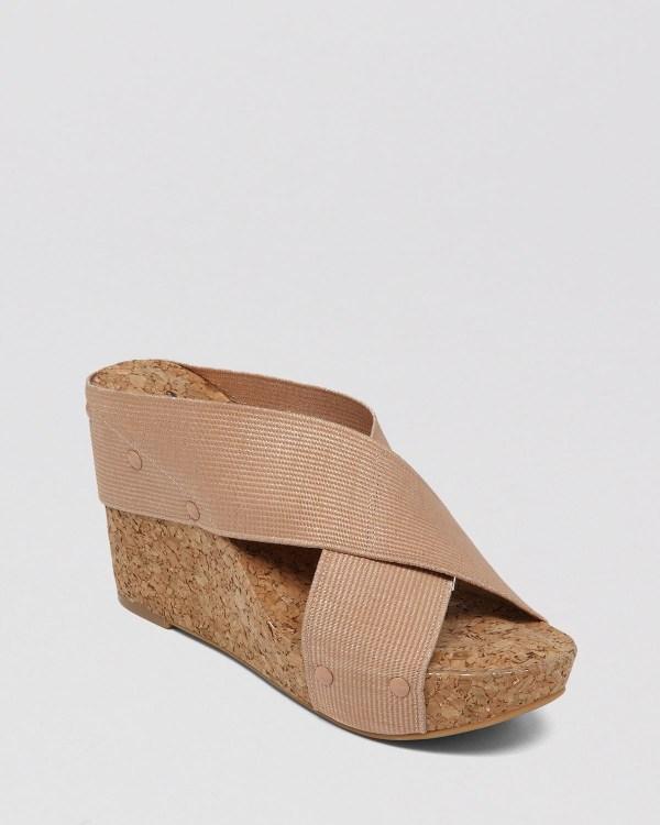 Lucky Brand Platform Wedge Slide Sandals - Miller2 In