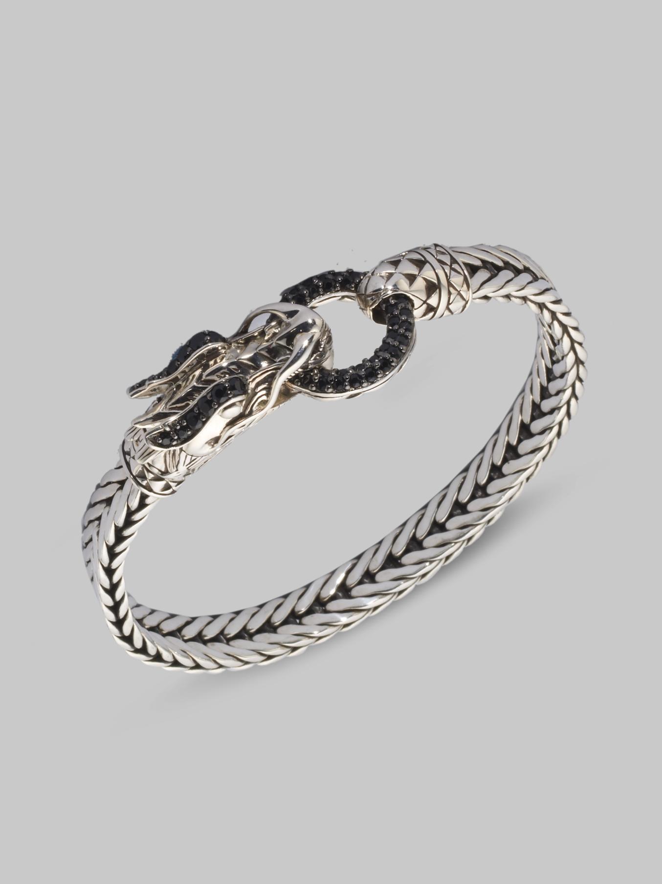 John Hardy Naga Black Sapphire & Sterling Silver Dragon