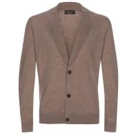 Merino Wool Shawl Collar Cardigan - Long Sweater Jacket